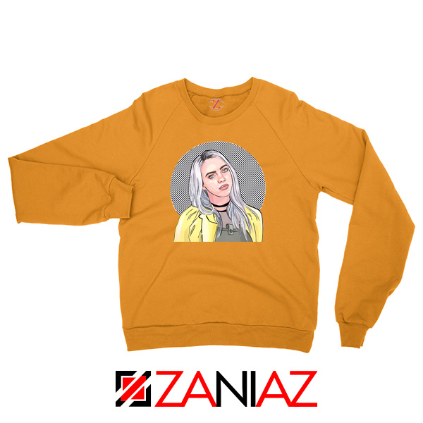 Billie Eilish Art Orange Sweatshirt