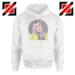 Billie Eilish Art White Hoodie