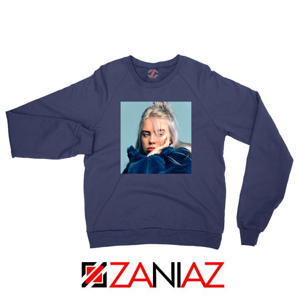 Billie Eilish Artist Navy Blue Sweatshirt