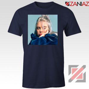 Billie Eilish Artist Navy Blue Tshirt