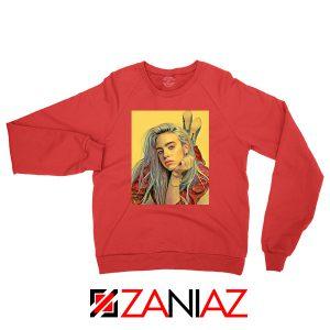 Billie Eilish Artist Red Sweater