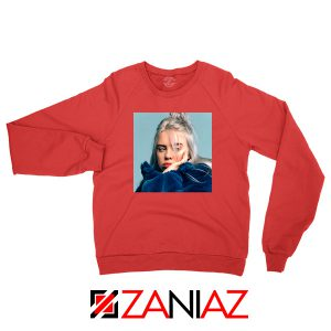 Billie Eilish Artist Red Sweatshirt