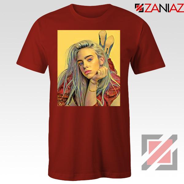Billie Eilish Artist Red Tshirt