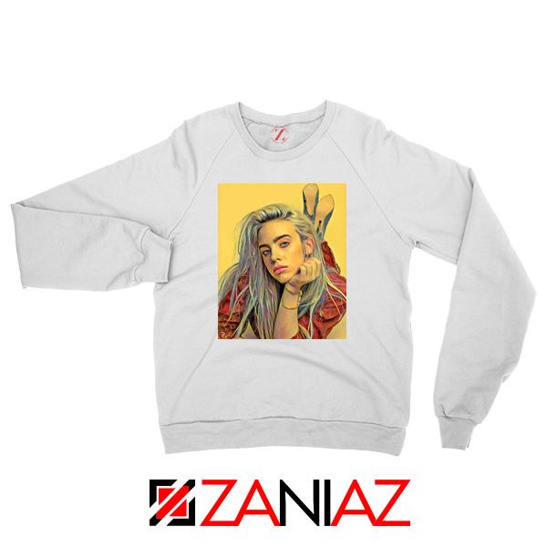 Billie Eilish Artist White Sweater