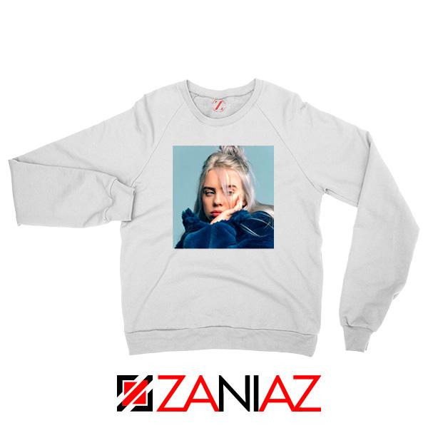 Billie Eilish Artist White Sweatshirt