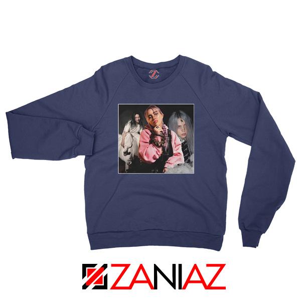 Billie Eilish Concert Tour Navy Blue Sweater