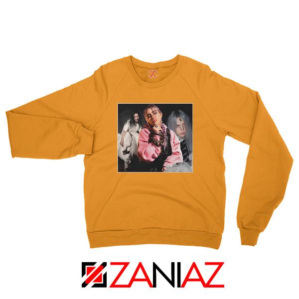 Billie Eilish Concert Tour Orange Sweater