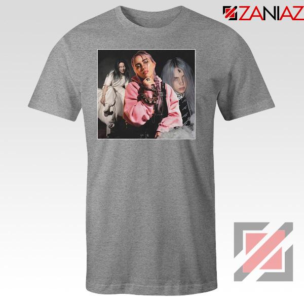Billie Eilish Concert Tour Sport Grey Tshirt