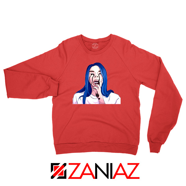 Billie Eilish Crying Red Sweater