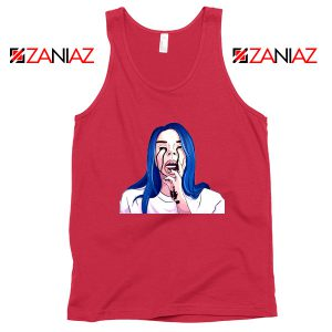 Billie Eilish Crying Red Tank Top