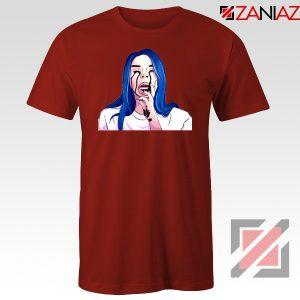 Billie Eilish Crying Red Tshirt