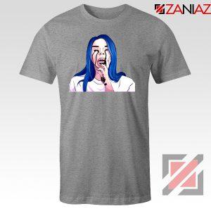 Billie Eilish Crying Sport Grey Tshirt