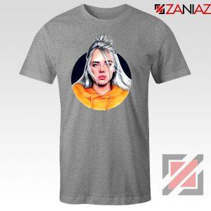Billie Eilish Singer Sport Grey Tshirt