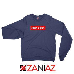 Billie Eilish Supreme Parody Navy Blue Sweater