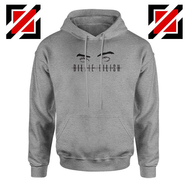 Billie Eilish Women Sport Grey Hoodie