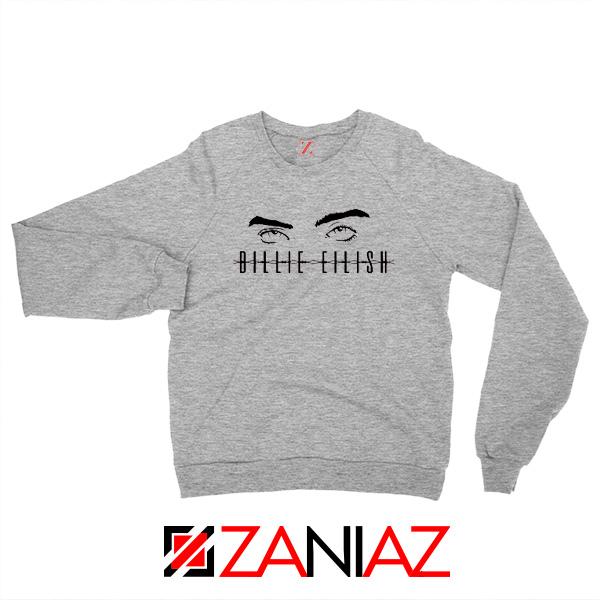 Billie Eilish Women Sport Grey Sweater