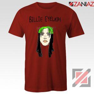 Billie Eyelash Red Tshirt Funny Songwriter