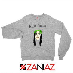 Billie Eyelash Sweatshirt Funny Grey Songwriter