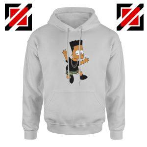 Black Bart Simpson Grey Hoodie