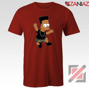 Black Bart Simpson Red Tshirt