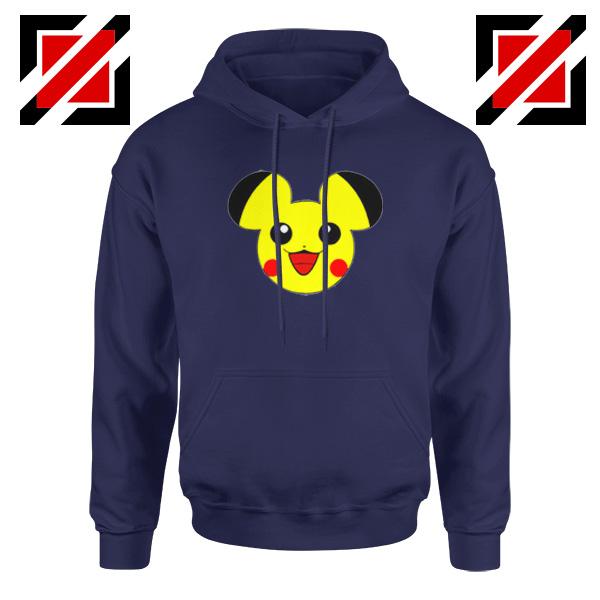 Buy Pikachu Mickey Navy Blue Hoodie