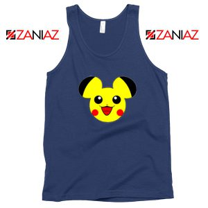 Buy Pikachu Mickey Navy Blue Tank Top