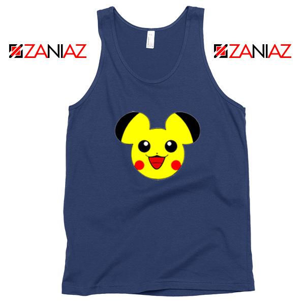 Buy Pikachu Mickey Navy Blue Tank Top