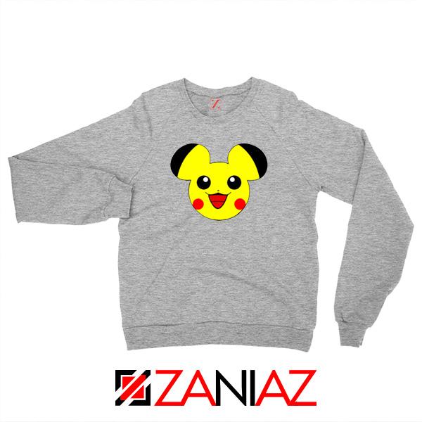 Buy Pikachu Mickey Sport Grey Sweater
