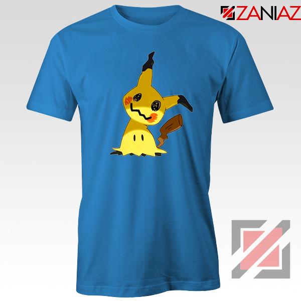 Cute Mimikyu Pikachu Blue Tshirt
