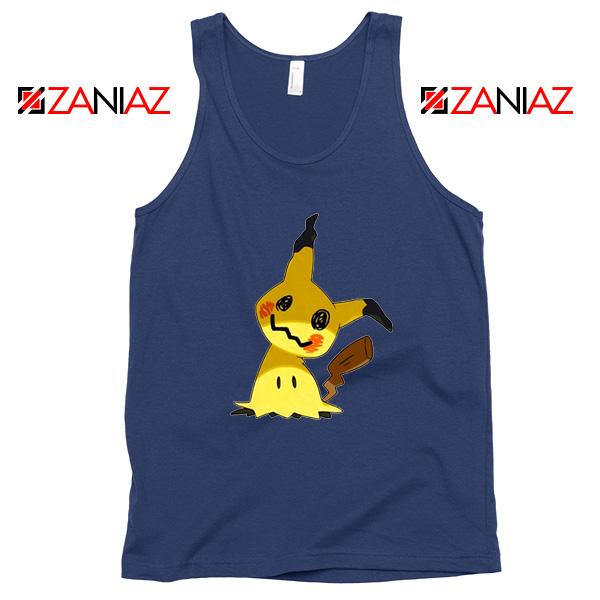 Cute Mimikyu Pikachu Navy Blue Tank Top