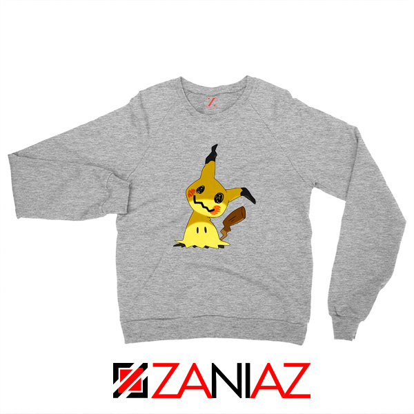 Cute Mimikyu Pikachu Sport Grey Sweater