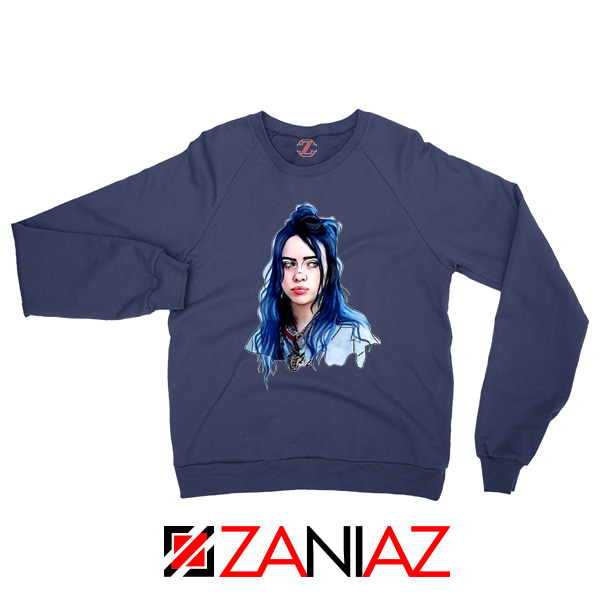 Eilish American Singer Navy Blue Sweatshirt