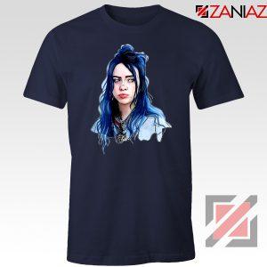 Eilish American Singer Navy Blue Tshirt