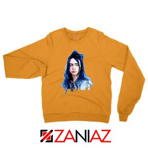 Eilish American Singer Orange Sweatshirt