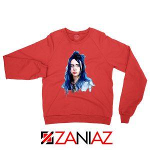Eilish American Singer Red Sweatshirt