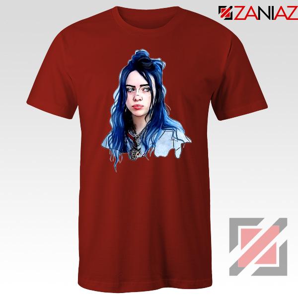 Eilish American Singer Red Tshirt