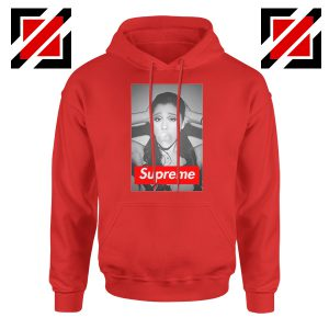Graphic Ariana Grande Supreme Parody Red Hoodie