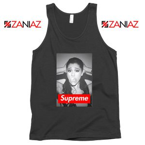 Graphic Ariana Grande Supreme Parody Tank Top