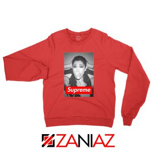 Graphic Ariana Grande Supreme Red Sweatshirt