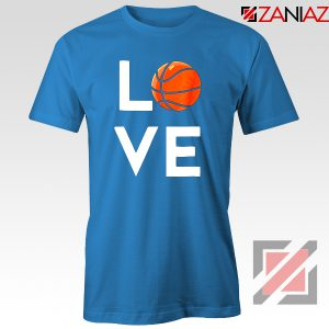 I Love Basketball Blue Tshirt