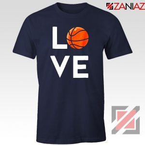 I Love Basketball Navy Blue Tshirt