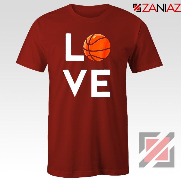 I Love Basketball Red Tshirt