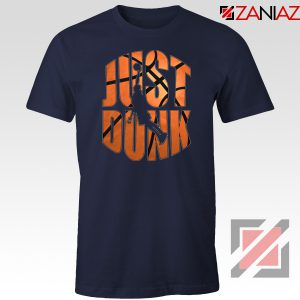 Just Dunk It Basketball Navy Blue Tshirt