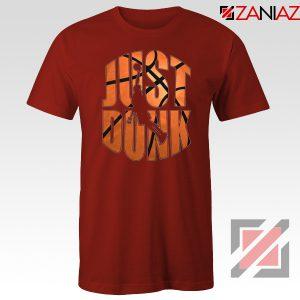 Just Dunk It Basketball Red Tshirt