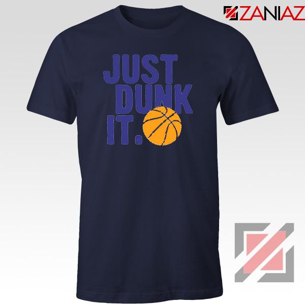 Just Dunk It Slogan Nike Parody Navy Blue Tshirt