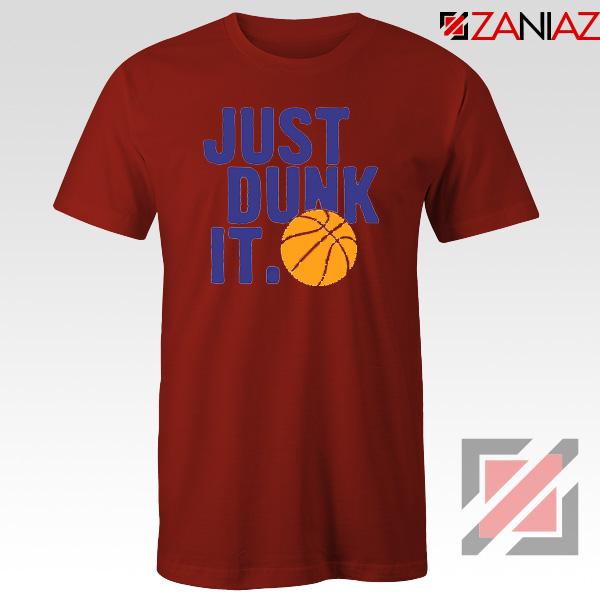 Just Dunk It Slogan Nike Parody Red Tshirt