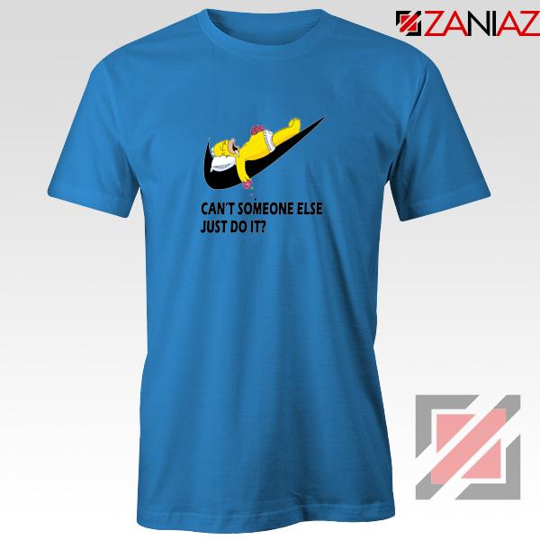Lazy Homer Simpson Blue Tshirt