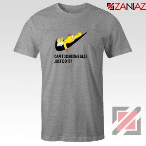 Lazy Homer Simpson Grey Tshirt