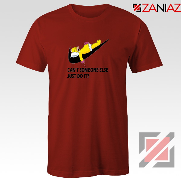 Lazy Homer Simpson Red Tshirt