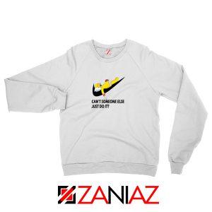 Lazy Homer Simpson White Sweatshirt